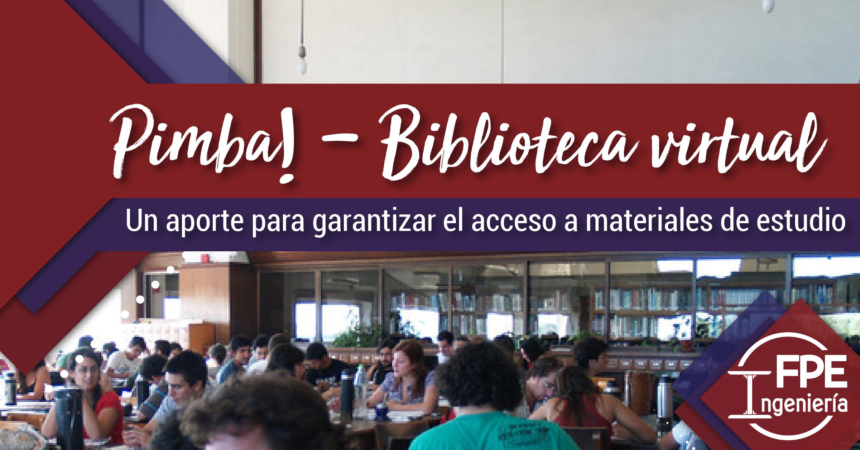 Pimba! Un aporte para garantizar el acceso a los materiales de estudio